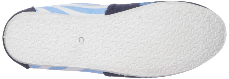 FOCO North Carolina Tar Heels NCAA Womens Stripe Canvas Shoes L