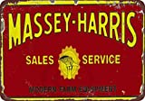 Massey Harris Sales & Service Vintage Look Reproduction 8 x 12 Metal Sign