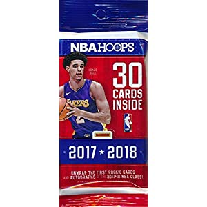 2017/18 Panini Hoops NBA Basketball HUGE Factory Sealed JUMBO FAT PACK with 30 Cards! Loaded with ROOKIES & INSERTS! Look for RC's & Autographs of Lonzo Ball, De'Aaron Fox Jayson Tatum, Many More!