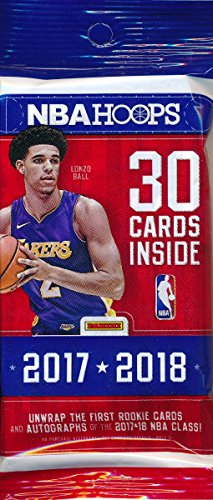 2017/18 Panini Hoops NBA Basketball HUGE Factory Sealed JUMBO FAT PACK with 30 Cards! Loaded with ROOKIES & INSERTS! Look for RC's & Autographs of Lonzo Ball, De'Aaron Fox Jayson - Sports Cards Panini