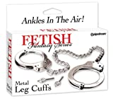 Fetish Fantasy Metal Leg Cuffs, Silver