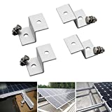 WILLAI 4pcs/set Z Style Solar Panel Mounting Brackets Sets For RV Boat Off Grid Aluminum