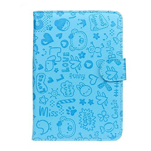 For Kobo aura one accessories,Kshion Universal Leather Flip Stand Case Cover Shockproof [Anti Slip] for inch Android Tablet
