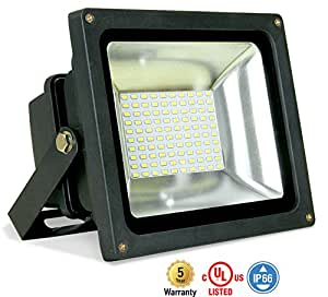 ASD LED Floodlight 50W SMD Outdoor Landscape Security Waterproof UL Listed 5000K (Daylight)