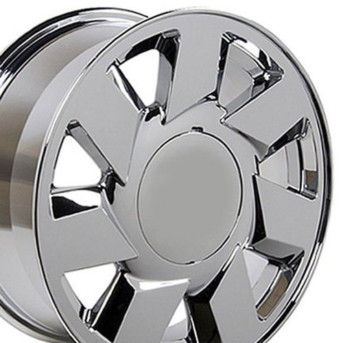 17×7.5 Wheel Fits Cadillac, Buick, Pontiac & Chevy – Cadillac DTS Style Chrome Rim – Hollander 4553