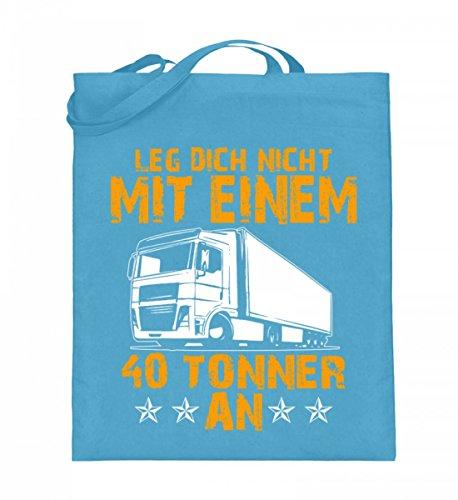 Shirtee ROKJ2L4Y_XT003_38cm_42cm_5739 - Bolso de tela de algodón para mujer Azul azul 38cm-42cm Azul Claro