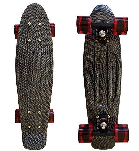Lmai 22'' Cruiser Skateboard Grapnic Floral Galaxy Complete Skateboard (FIBER)