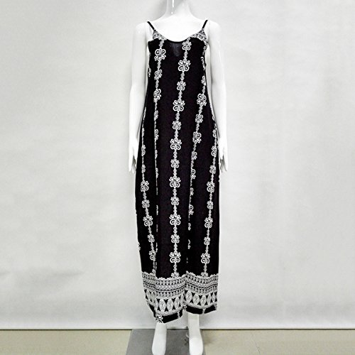de de Abby poli Robess larga Vestidos respaldo estampada Sin Suelta de Impreso verano Falda moda qgqWtTBS