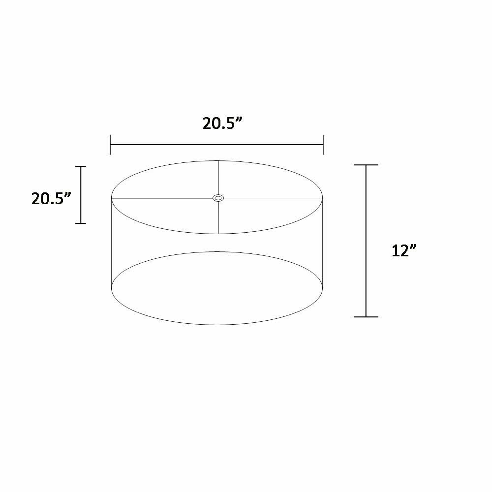 Artiva USA A210326-SHADE Luxor Circular Drum Lampshade with Hardback Reinforcement and Spider Fitter, Tan