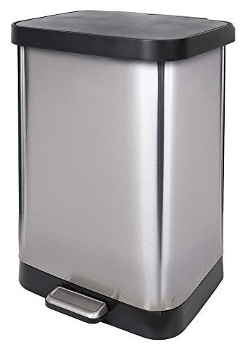 Glad Gld-74506 Stainless Steel Step Trash Can