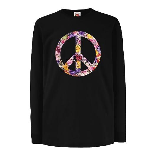 03ac4048c1ce7 Amazon.com: lepni.me Kids Boys/Girls T-Shirt Peace Symbol, 1960s 1970s Hippy  Hippie Festival, Peace Sign Flower Summer Hipster Swag: Clothing