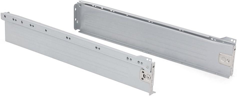 Emuca 3054125 Kits de Cajón H86, Gris Metalizado, 500mm