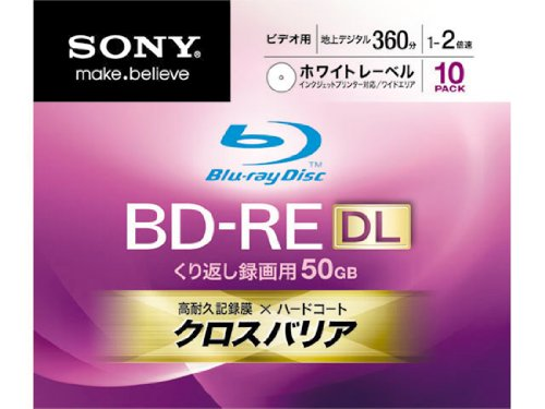 Sony Blu-ray Disc 10 Pack - BD-RE DL 50GB 2X Rewritable D...