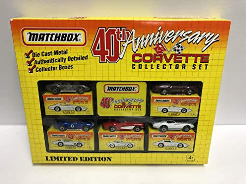 40th anniversary Matchbox Corvette Collector Set diecast 1/64 scale Corvette's 1962 1964 1974 1977 1987 ()