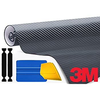 3M 1080 Carbon Fibre Anthracite Air-Release Vinyl Wrap Roll Including Toolkit (1ft x 5ft)