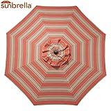 Cheap Bayside-21 9 FT Patio Umbrella Cover Canopy 8 Rib Replacement Top Outdoor Sunbrella Fabric (Poppy Stripe)