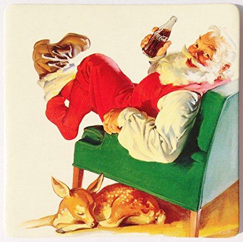Set of 4 Coca-cola Santa Coasters