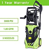 Pesters Hot Pressure Washer, Portable 3000 Psi