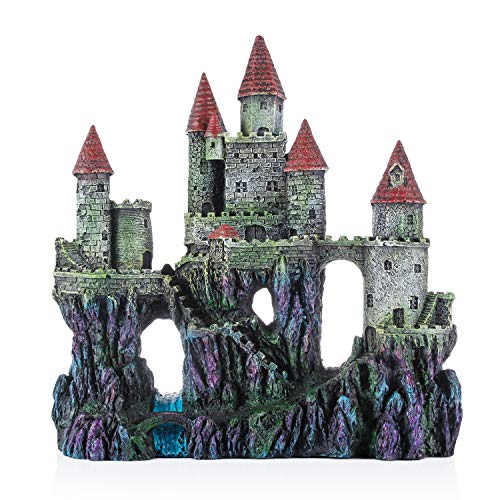 Miracliy Aquarium Decorations Castle, Aquarium Ornament Super Castle,10