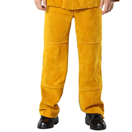 9a7832d800251 WELDFASS, Cowhide Leather Heat Resistant Welding trouser, Work ...