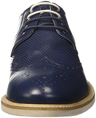 Scarpe Uomo Lumberjack Blue Navy 004B01 Vettel Derby Blu Stringate ESFp1Tq