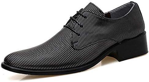 古典的なメンズファッションオックスフォードカジュアル人格ストライプテクスチャ快適なロートップフォーマルシューズ 快適な男性のために設計