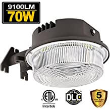 70W LED Barn Lights Dusk to Dawn Outdoor Area Lighting Fixture Photocell Included BBOUNDER 9100LM (700W Incandescent Equiv.) 5000K Daylight Weatherproof ETL&DLC Listed for Yard Street 5-Year Warranty