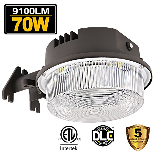 70W LED Barn Lights Dusk to Dawn Outdoor Area Lighting Fixture Photocell Included BBOUNDER 9100LM (700W Incandescent Equiv.) 5000K Daylight Weatherproof ETL&DLC Listed for Yard Street 5-Year Warranty (Lighting Fixtures Incandescent)