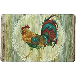 "Bacova Guild 78712 Standsoft Rooster Strut Anti-Fatigue Skid-Resistant Memory Foam Mat, 35"" x 22"""