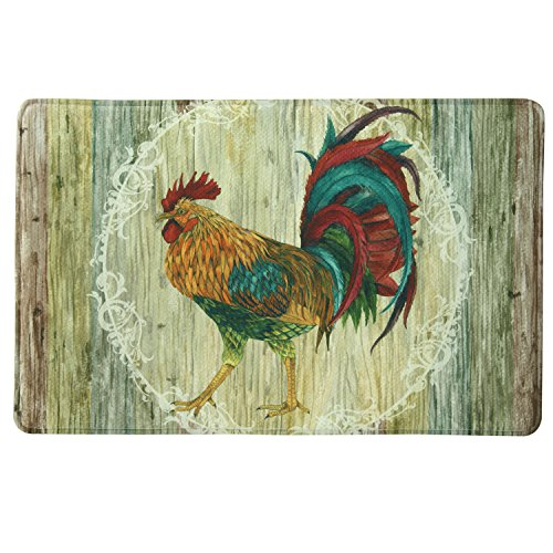 - Bacova Guild 78712 Standsoft Rooster Strut Anti-Fatigue Skid-Resistant Memory Foam Mat, 35
