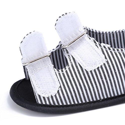 BOBORA Bebe Ninos Sandalias Casuales Franja De Lona Zapatos De Verano gris