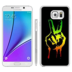 Newest Samsung Galaxy Note 5 Case ,Unique And Fashion Designed Case With Green red yellow marijuana reggae White Samsung Galaxy Note 5 Skin Cover High Quality Phone Case