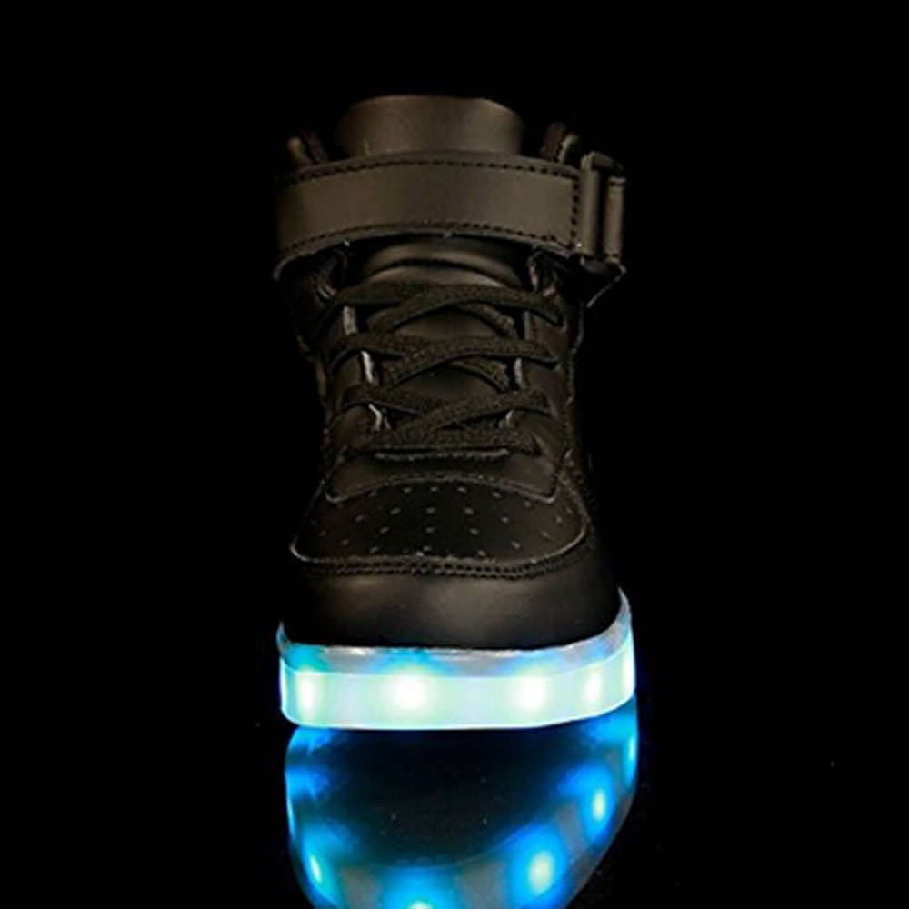 Toddler Little Big Kids Boy Girl USB Flashing LED Light Shoes Sneaker Heitx33