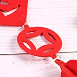 Blulu 4 Packs Chinese New Year Decorations Red Fu