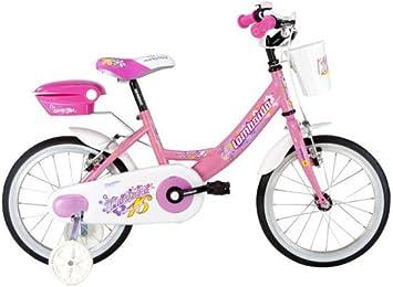 Lombardo Bicicleta Niña 16 Mariposa 16 SC Blanco/Rosa: Amazon.es ...