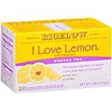 Bigelow I Love Lemon Herbal Tea Bags, 20-Count Boxes (Pack of 6), Lemon-flavored Herbal Tea Bags with Vitamin C, All Natural