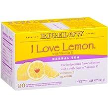 Bigelow I Love Lemon Herbal Tea Bags, 20-Count Boxes (Pack of 6), Lemon-flavored Herbal Tea Bags with Vitamin C, All Natural