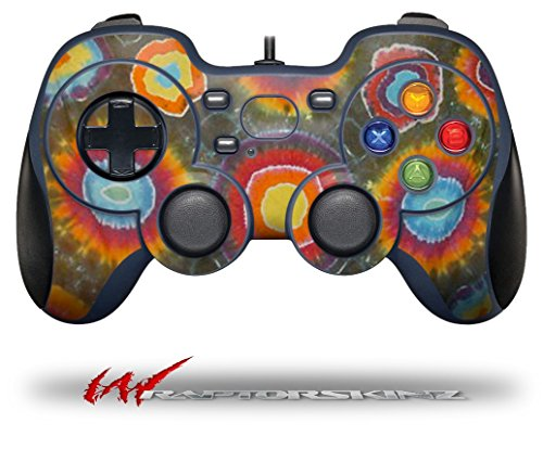 Phat Dyes - Circles - 101 - Decal Style Skin fits Logitech F310 Gamepad Controller (CONTROLLER SOLD SEPARATELY)