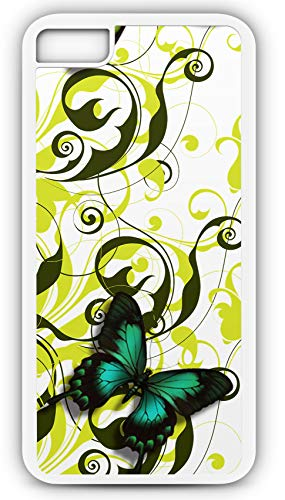 iPhone 8 Plus 8+ Case Banner Header Floral Butterfly Homepage Customizable by TYD Designs in White Plastic Black Rubber Tough Case