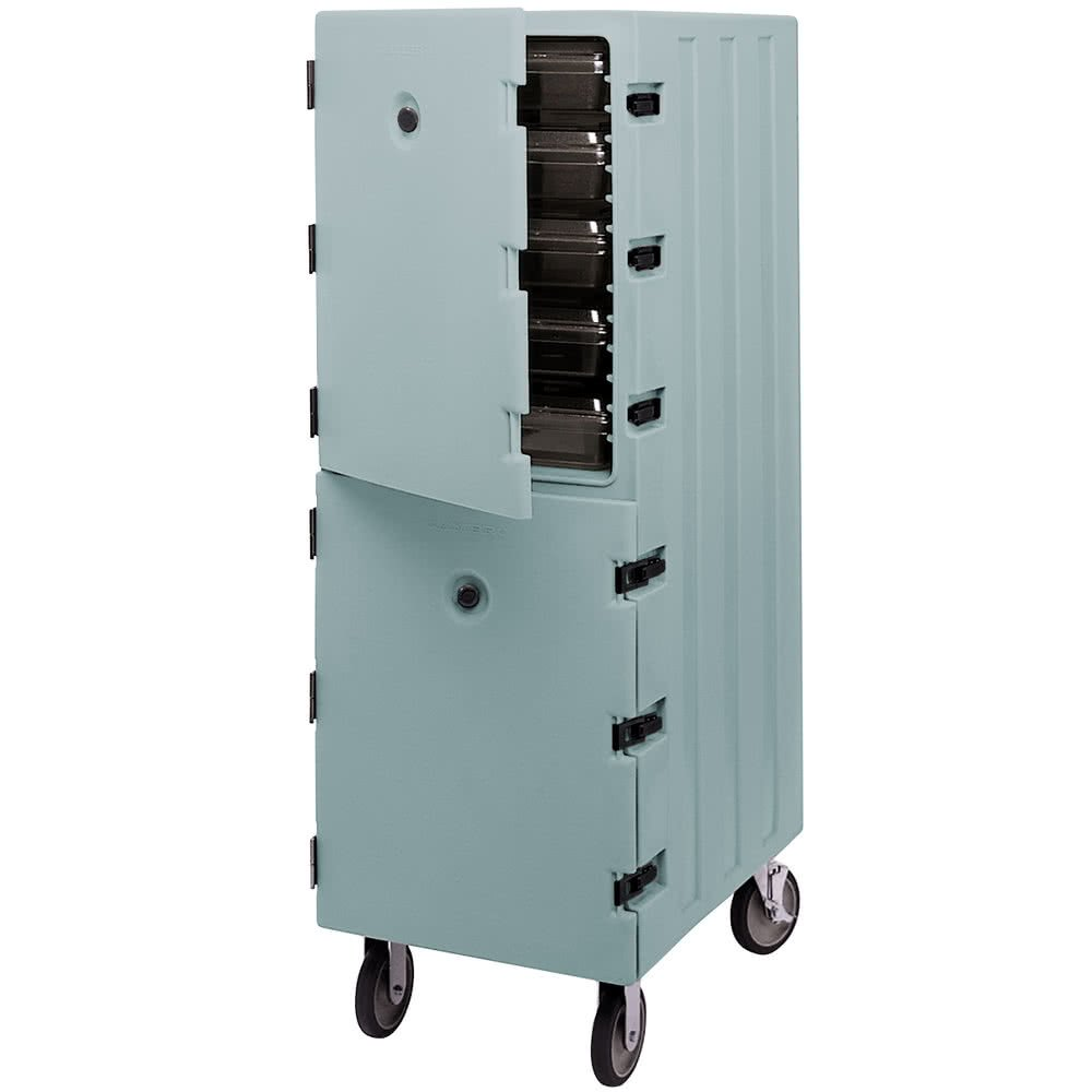 TableTop king 1826DBC401 Slate Blue Double Compartment Food Storage Box Camcart Carrier by TableTop King