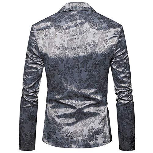 Slim Paisley Fumer Finition Vêtements Mode Hommes Blazer De Mariage Hellgrau Danse Confortable Design Hx Style Course Fit Tailles Élégant Veste X5OaZ