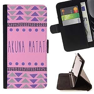 - Elephant Space Aztec - - Monedero PU titular de la tarjeta de cr?dito de cuero cubierta de la caja de la bolsa FOR HTC One M9 Retro Candy