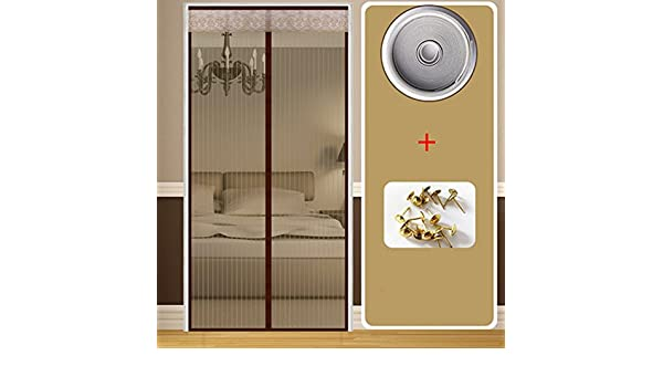J&SSSU Mosquitera Puerta magnética Cubierta con Cortina de Malla Resistente Volar la Cortina para Puertas correderas Habitación Niños,Mascota amigable-A 90x200cm(35x79inch): Amazon.es: Hogar