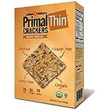 Julian Bakery Primal Thin Crackers   Parmesan   USDA Organic   Gluten-Free   Grain-Free   GMO Free   Low Carb   1 Pack