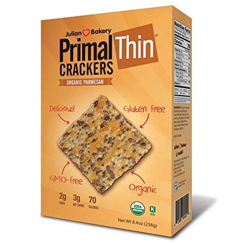 Primal Thin Crackers (Parmesan)(Organic)(Low Carb, Gluten-Free, Grain-Free) (8.4oz)
