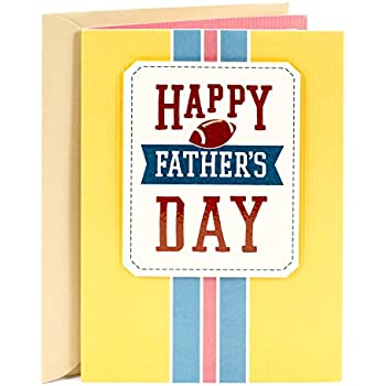 Colours Fathers Day Football Card For A Stepdad Green and White Team Shirt