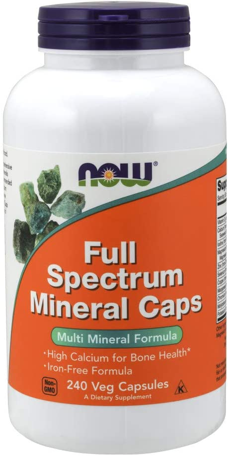 NOW Full Spectrum Mineral Caps Multi-Mineral Formula with Copper