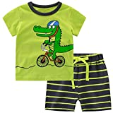 Rysly Boys Pajamas Sets Shorts Toddler Rocket Spaceflight Cartoon Children Sleepwears 110