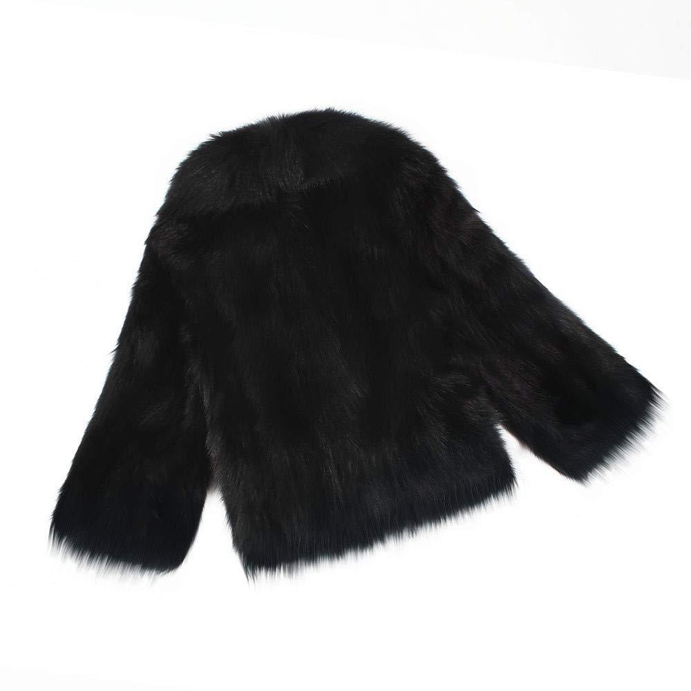 Giacca Scialle Pelliccia Sintetica Donna Casuale Scialle Elegante Caldo Cappotto Invernale Moda Parka Cappotto Outwear VICGREY ❤ Cappotto Donna Eleganti