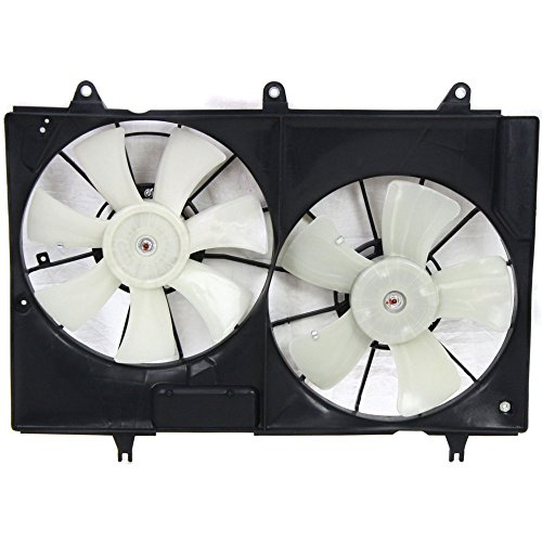 Cadillac Radiator Fan - Radiator Fan Assembly for Cadillac CTS 04-07. Dual Fan 3.6L/6.0L Eng.